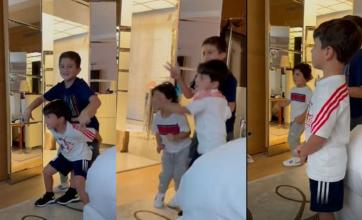 Lionel Messi mostró la reacción de sus hijos a la session de Bizarrap