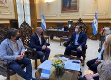 Nieto, con la responsabilidad  de representar a ECO en Virasoro