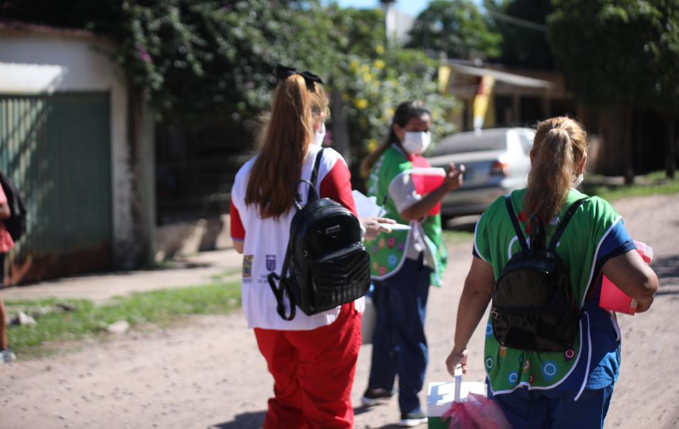 Completan esquemas de vacunación COVID-19 en el barrio Pirayuí