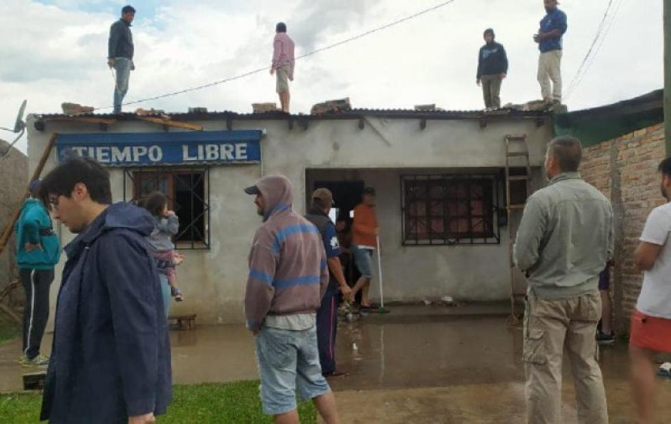 Tormenta apagó incendios pero generó daños en varias comunas