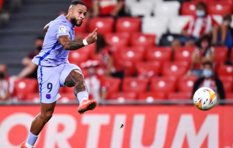 Memphis salvó a Barcelona, que empató con Athletic Bilbao