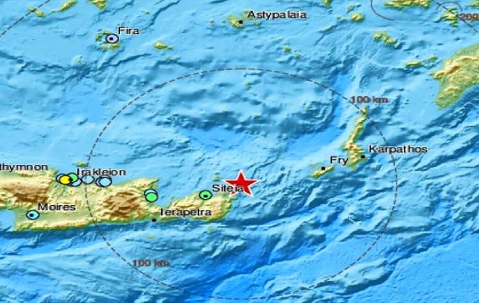 Un terremoto de 6,3 de magnitud sacudió la isla de Creta
