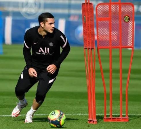 Mauro Icardi volvió a los entrenamientos