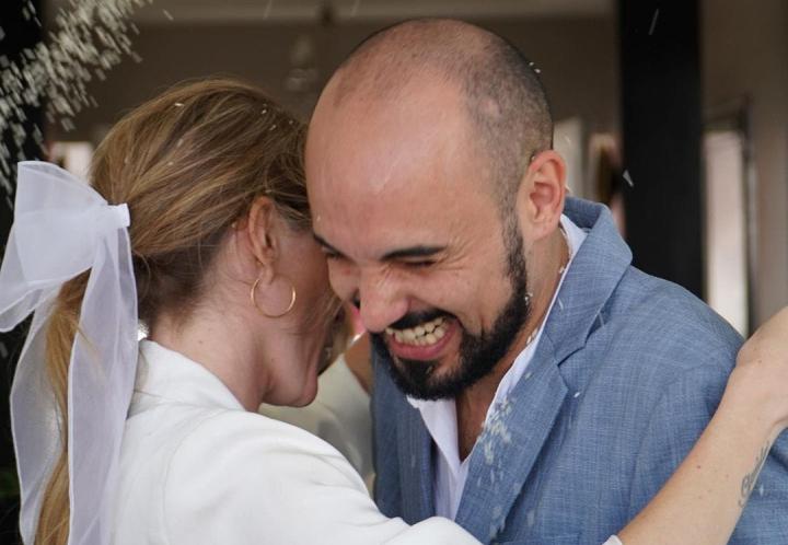 Abel Pintos y Mora Calabrese se casaron